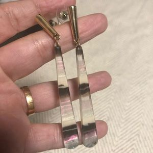 Fun dangle earrings with iridescent coloring